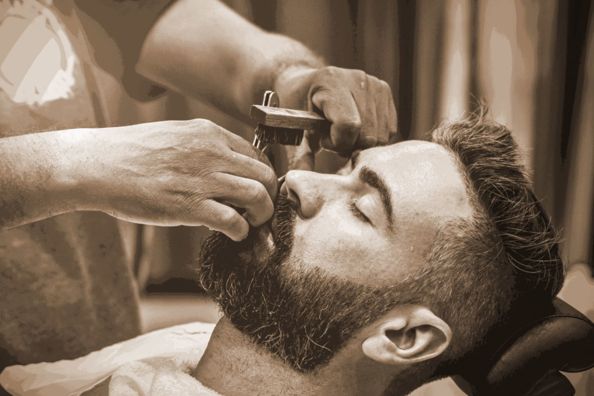 моделирование бороды в барбершопе