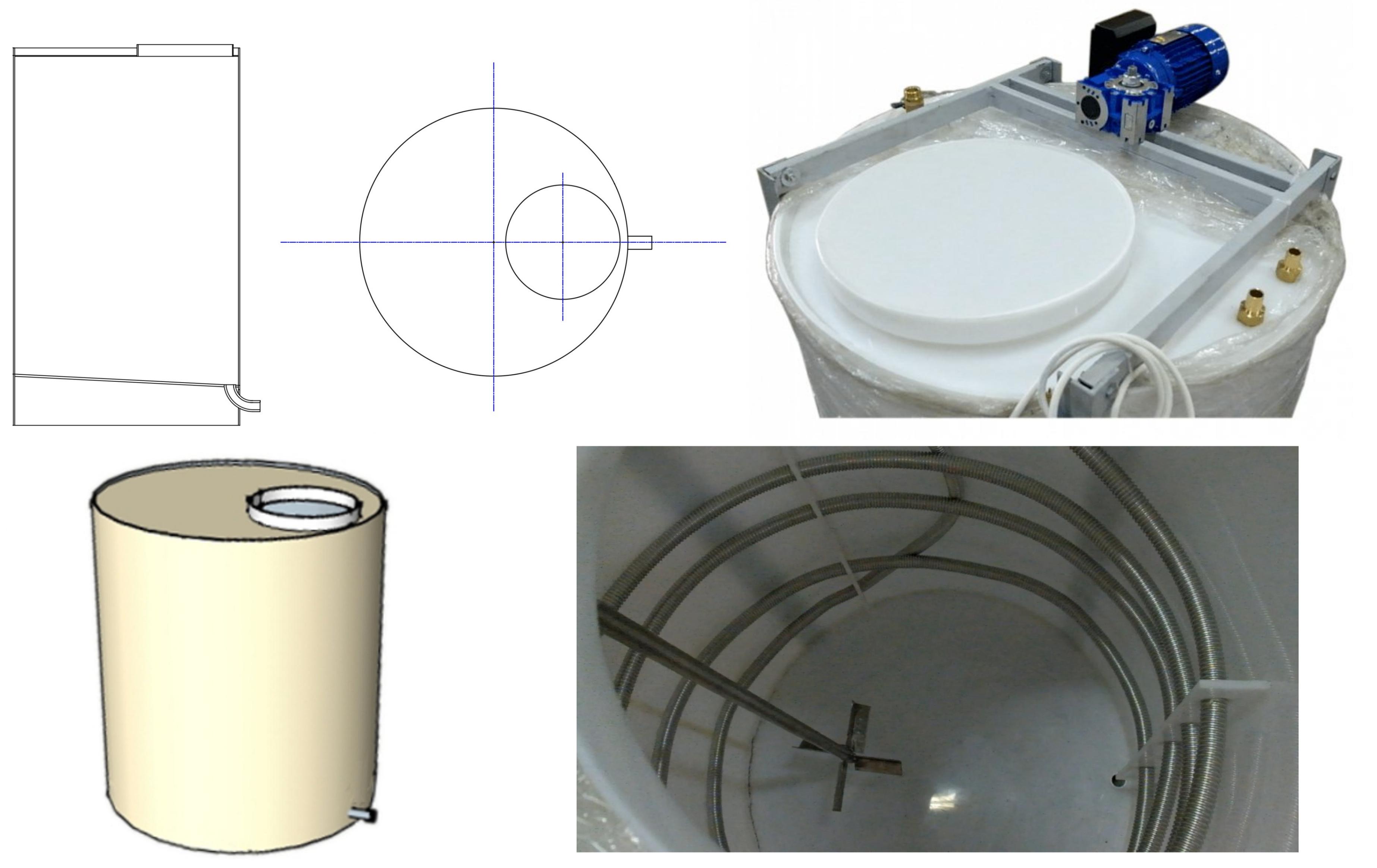 Реактор для смешивания жидкостей с нагревом/охлаждением