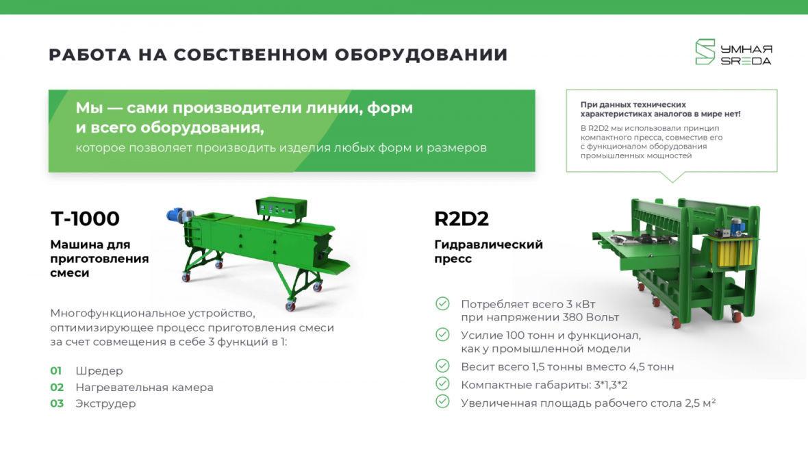 Оборудование экозавода Умная SREDA
