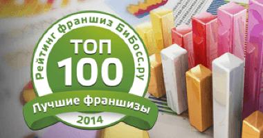 Опубликован рейтинг Топ-100 франшиз России 2014