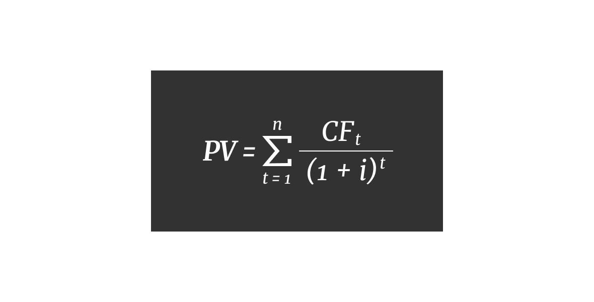 Дисконтированные денежные потоки, формула расчета