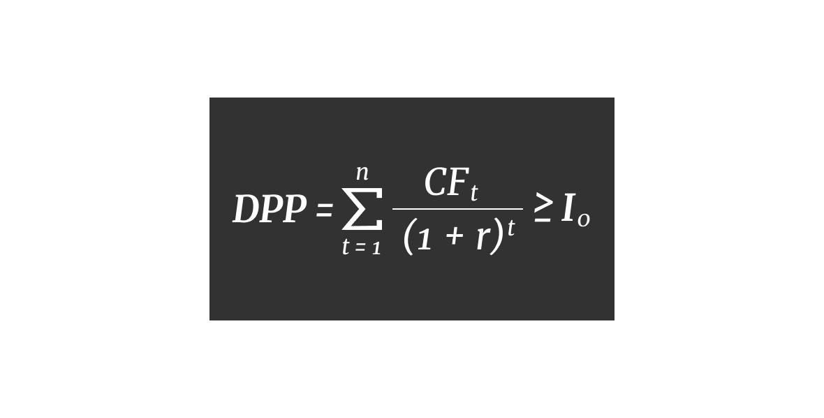 Дисконтированный срок окупаемости, формула расчета