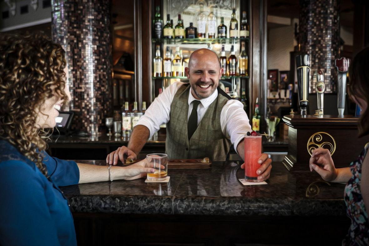 обслуживание клиентов в пивном ресторане